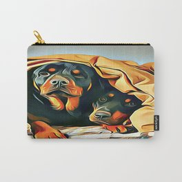 Mr and Mrs Rottweiler Carry-All Pouch