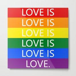 Love Is Love Metal Print