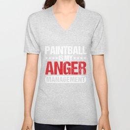 Paintball Is My Anger Management Paintball Marker Gift Unisex V-Neck