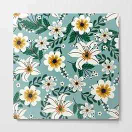 Delicate Flowers Elegancy II Metal Print