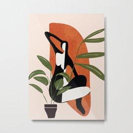 Abstract Female Figure 20 Metal Print