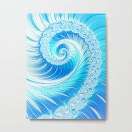 Frozen Vortex Metal Print
