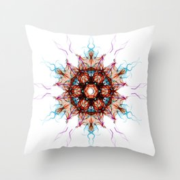 Snowcrystal 1 Throw Pillow