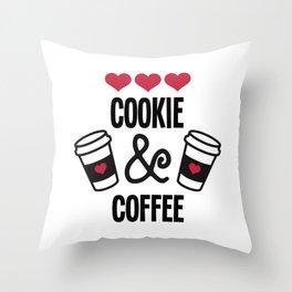 Cookie & Coffee Crew Merry Christmas Throw Pillow