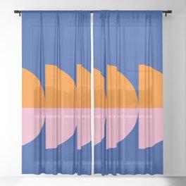 Spring- Pantone Warm color 02 Sheer Curtain