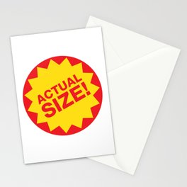 Actual Size Stationery Cards