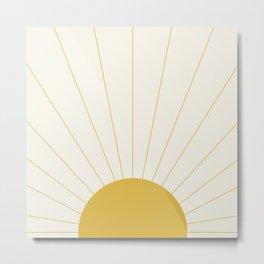 Sunrise / Sunset Minimalism Metal Print