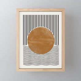 Abstract Modern Poster Framed Mini Art Print
