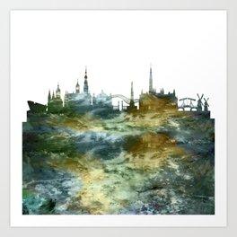 Amsterdam Skyline Holland Art Print