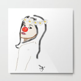Rudolph Selfie - The Ghost of Christmas Present - The Christmas Spirit from A Christmas Carol Metal Print