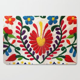 Red Mexican Flower Cutting Board