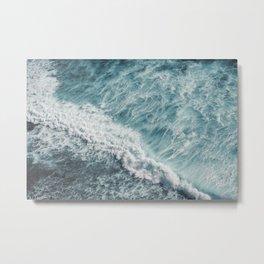 Saltwater Feelings Ocean Surf Metal Print