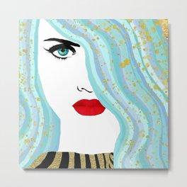 Francesca Has Mermaid Hair Metal Print