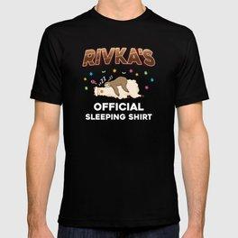 Rivka Name Gift Sleeping Shirt Sleep Napping T-shirt