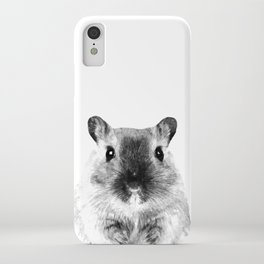 Black and White Hamster iPhone Case