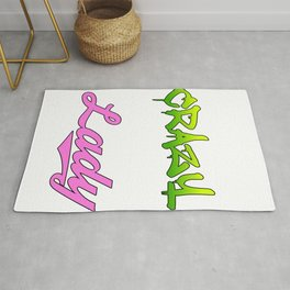 """""""Hide Your Crazy And Start Acting Like A Lady"""" tee design for you and your friends!  Rug"""