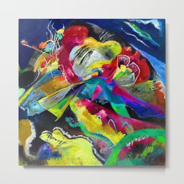 Kandinsky Picture with White Lines Metal Print