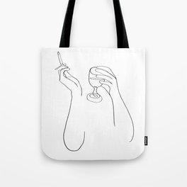 Wine & Cigarettes Tote Bag