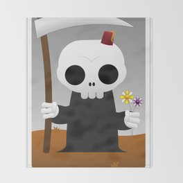 The Chibi Tarot - XIII Death Throw Blanket
