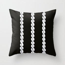 White Twistings Throw Pillow
