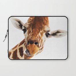 Giraffe Portrait // Wild Animal Cute Zoo Safari Madagascar Wildlife Nursery Decor Ideas Laptop Sleeve