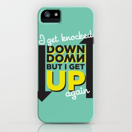 Knocked Down iPhone Case