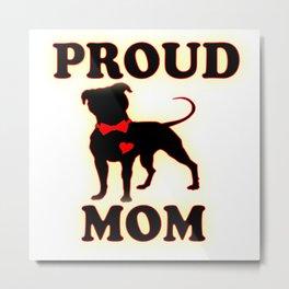 proud pittie mom Metal Print