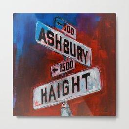 Haight and Hashbury Metal Print