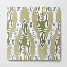 Neutral Strand Twist Blue Green Metal Print