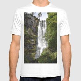 Pistyll Rhaeadr Waterfall T-shirt