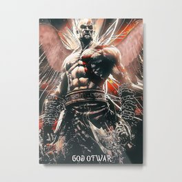 God Of War Game Metal Print