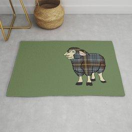 Faded Johnston Tartan Sheep Rug