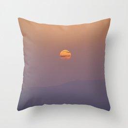 Misty mountains. Summer sun. Sierra Nevada National Park Throw Pillow