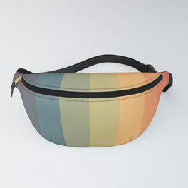 Colorful Retro Striped Rainbow Fanny Pack