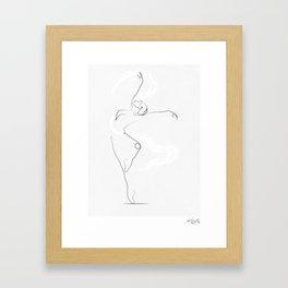 'UNFURL', Dancer Line Drawing Gerahmter Kunstdruck