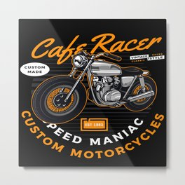 Cafe Racer Speed Junkie Speed Metal Print