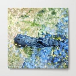 Monet Alligator Metal Print