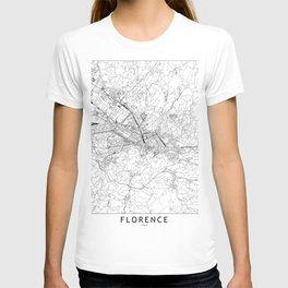 Florence White Map T-Shirt