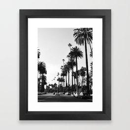 Los Angeles Black and White Framed Art Print