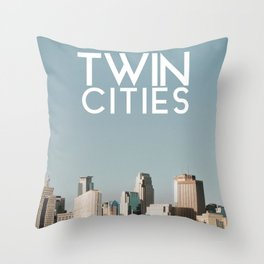 Twin Cities-Minneapolis and Saint Paul Throw Pillow