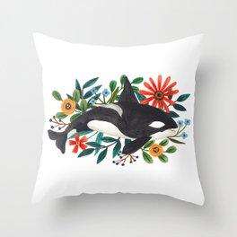 Orca Throw Pillow