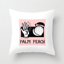 Palm Peach Throw Pillow