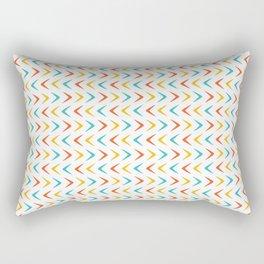 Mid Century Modern Atomic Boomerang Rectangular Pillow