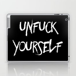 Unfuck yourself (inverse edition) Laptop & iPad Skin