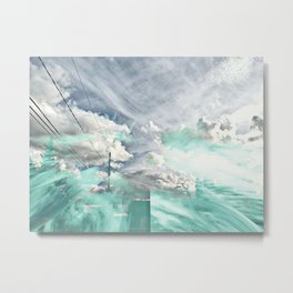 sky glitch Metal Print
