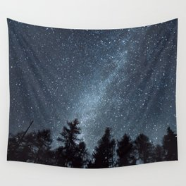 Milky Way in the Woods | Nature and Landscape Photography Wall Tapestry