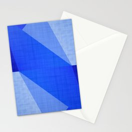 Lapis Lazuli Shapes - Cobalt Blue Abstract Stationery Cards