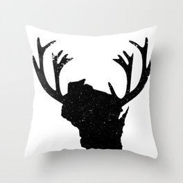 Wisconsin Hunting Throw Pillow