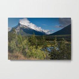 View of Mount Rundle Metal Print