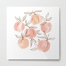Watercolor peach Metal Print